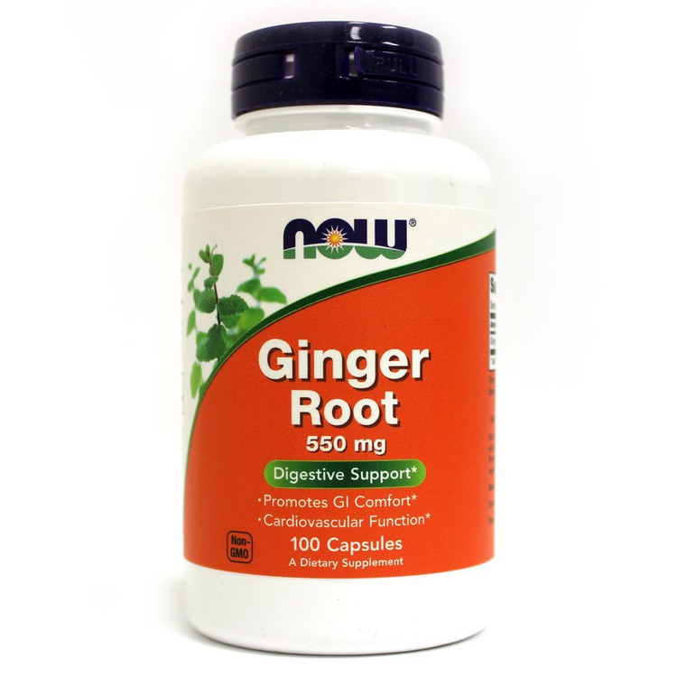 Ginger Root 550 mg 100 Capsules - NOW Foods