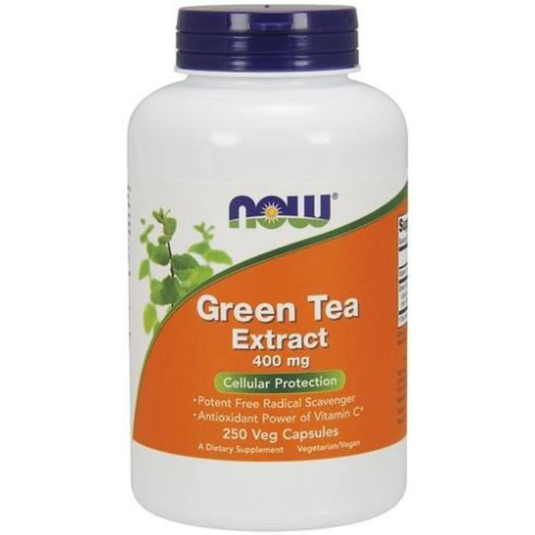 Green Tea Extract 400 mg 250 Veg Capsules - NOW Foods