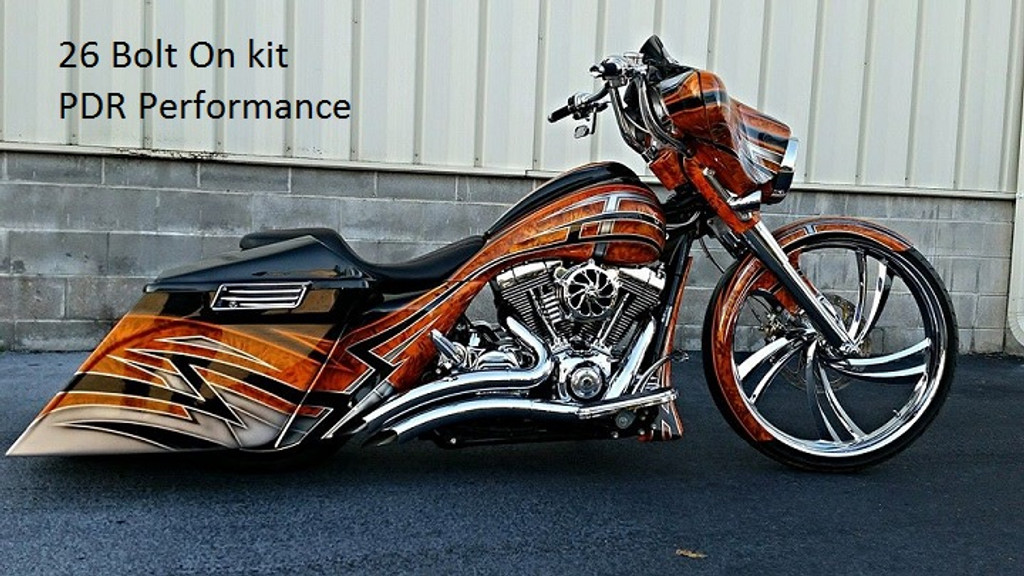 """B26/09 Bolt On Neck and Trees, to fit up to 26"""" wheel on 2009-2013 HD Touring"""