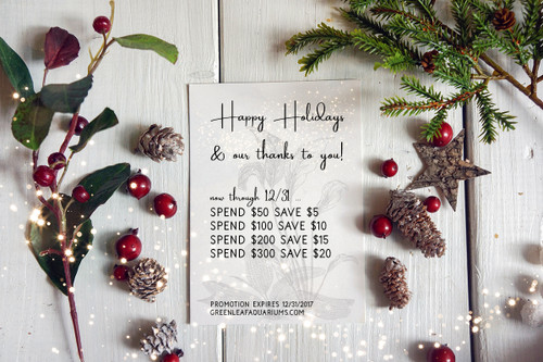 Happy holidays and thank you for supporting our store