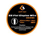 Geek Vape SS Flat Clapton Wire (SS316L Ribbon{26ga*18ga} + 32ga) 10ft 1pc (MSRP $9.00)