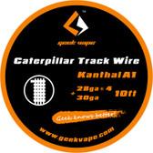 Geek Vape Caterpillar Track Wire - Kanthal A1 (28ga*4 + 30ga) 10ft 1pc (MSRP $10.00)