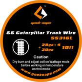 """Geek Vape """"SS Caterpillar Track Wire"""" (SS316L 28ga*4 + 30ga) 10ft 1pc (MSRP $10.00)"""