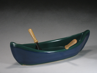 Green & Blue Canoe Dip Pot
