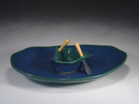 Green & Blue Boat on a Pond Gift Set