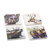 Dean Crouser WildLife Coaster set of 4