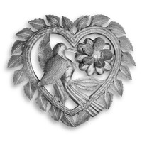 Hummingbird Heartbeat Handmade Metal Wall Heart