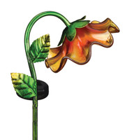 Solar Bell Flower Stake - Yellow