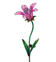 Solar Tiger Lily Stake - Pink