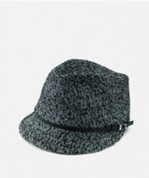Woman's Tweed Fedora o/s Black