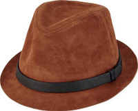 Men's Faux Suede Fedora