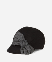 Women's Cap with Side Bow - Black