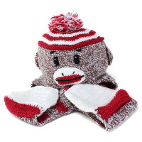 Kid's Sock Monkey Hat - 3-6 Yrs