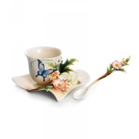 Fluttering Beauty - Cup/Saucer/Spoon