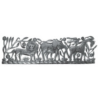 Jungle Friends Hand Crafted Metal Wall Art