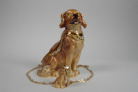 Great Golden Retriever Jewelry Box With Necklace