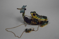 Frisky Frog Jewelry Box with Necklace