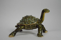 Neptune Turtle Jewelry Box with Necklace