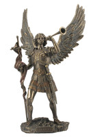 Archangel St. Gabriel with Trumpet Religious Sculpture