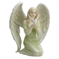 Angel Kneeling with Dove in Hands