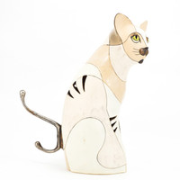 Cat Tealight Ceramic Piece