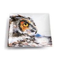 Dean Crouser Looking Back Owl Snack Plate