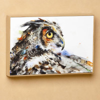 "Dean Crouser's ""Looking Back"" Owl Wall Art"