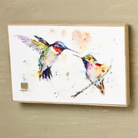 "Dean Crouser's"" The Lovebirds"" Hummingbirds Wall Art"