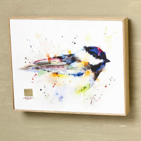 "Dean Crouser ""Black Cap"" Chickadee Wall Art"