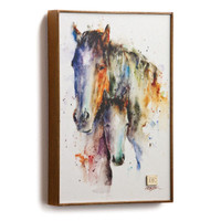 "Dean Crouser's ""A Mother's Love"" Mare and Foal Wall Art"