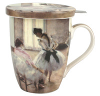 Degas The Dance Lesson Tea Mug with Infuser & Lid