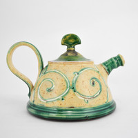 Short Old Ivory Teapot