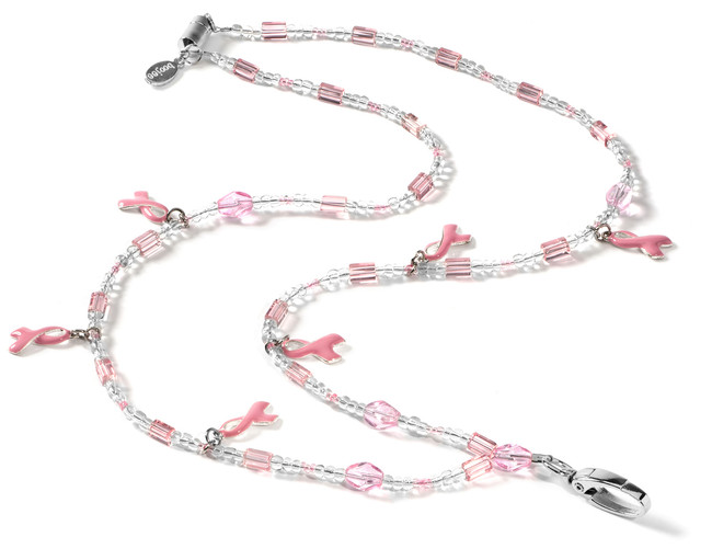 Hope For Cure Beaded Lanyard