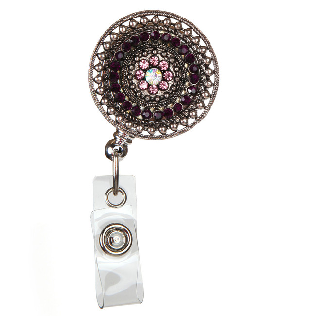 Razzle Dazzle-Purple Fashion Badge Reel