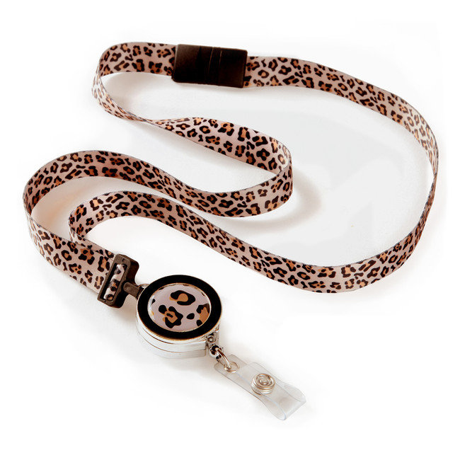 Leopard Ribbon Lanyard