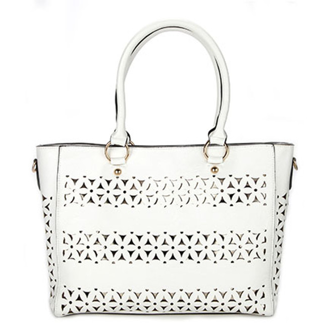 Tangier White Moroccan Bag