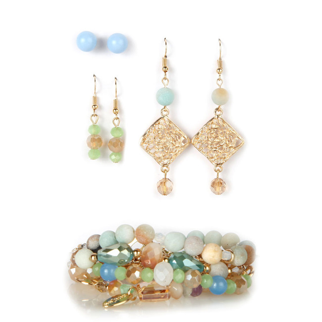 Spring Party Bracelet & Earring Set