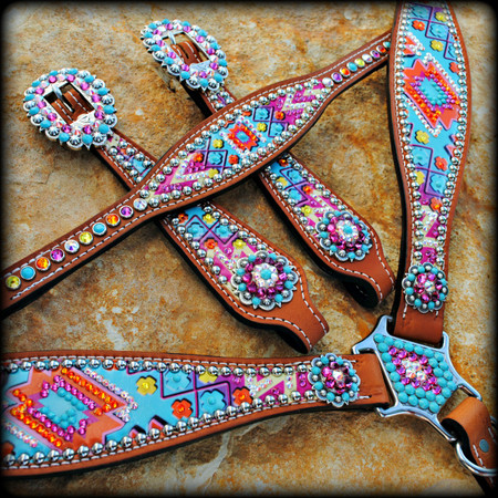 Hand Painted Barrel Racing Tack