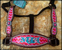 Custom Chevron Cheek Halter