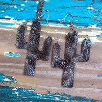 Cactus Earrings-Snake