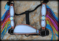 Rainbow Bling Cheek Halter