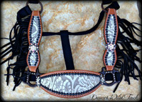 Hide Cheek Halter With Fringe & Bling