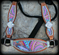 Large Print Paisley Cheek Halter