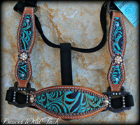 Blinged Berry Cheek Halter - Pick Your own Hide