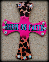 Designed Ridin On Faith Cross