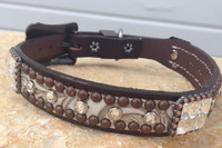 Scroll Bling Collar 10-23""