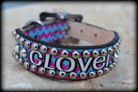 Personalized Chevron Collar