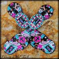 Cheetah Cross Aztec Spurs