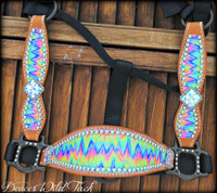 Tie Dye Chevron Cheek Halter