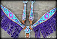 Chevron Aztec-Purple & Pink Design